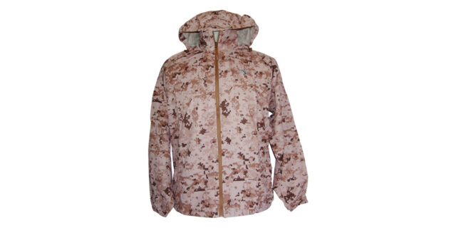 Water-Resistant Windbreaker with Hood (Desert Digital Camo) - NEW