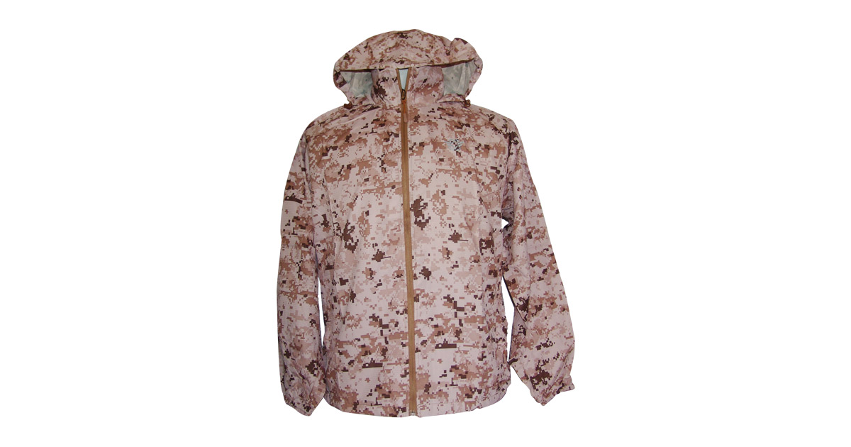bc2b8db9c Water-Resistant Windbreaker with Hood (Desert Digital Camo) - NEW | South  African Military Surplus