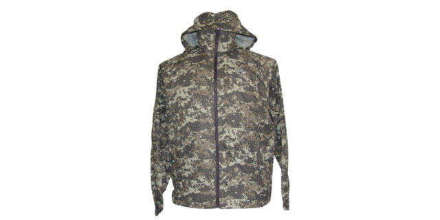 Water-Resistant Windbreaker with Hood (Grey Digital ACU Camo) - NEW
