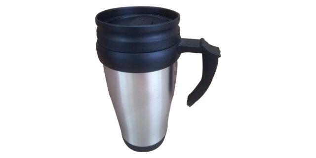 Travel Mug (Silver & Black) - NEW