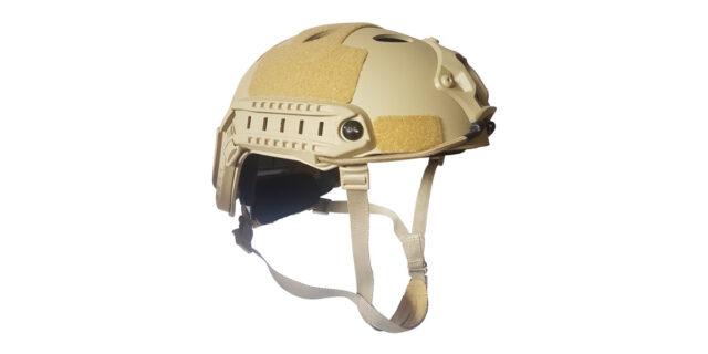 "Beige Plastic ""Airsoft"" Helmet - NEW"