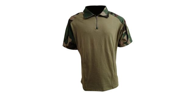 Woodland Camo Golf Shirt (Slim Fit) - NEW