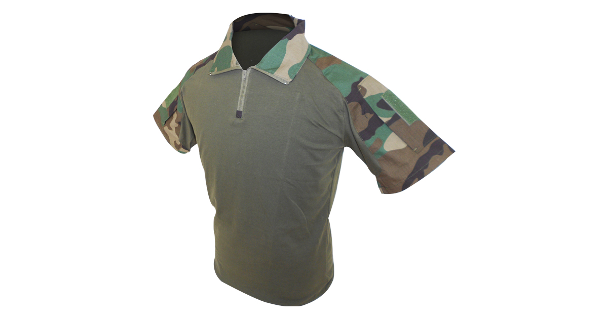410528c3 Woodland Camo Golf Shirt (Slim Fit) - NEW | South African Military Surplus