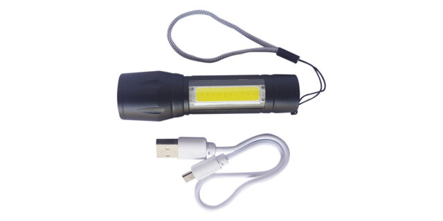 USB Charging LED Torch - NEW