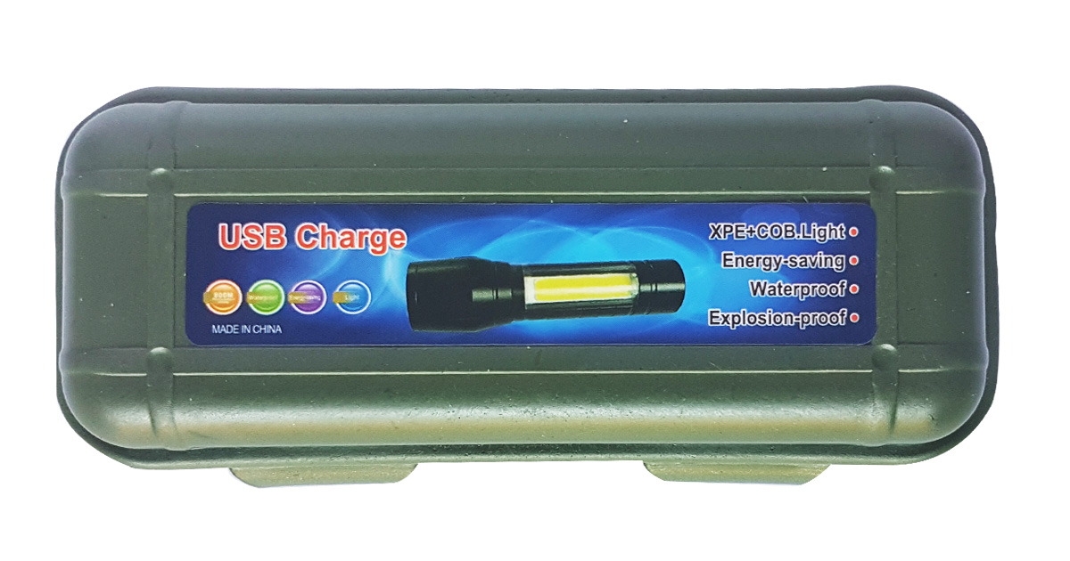 USB Charging LED Torch - NEW