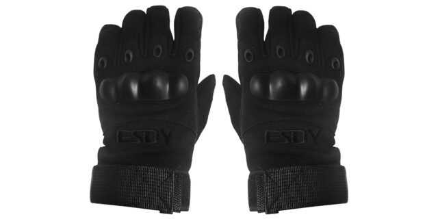 Full Finger Tactical Gloves (Black) - NEW