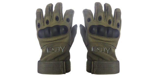 Full Finger Tactical Gloves (Olive Green) - NEW