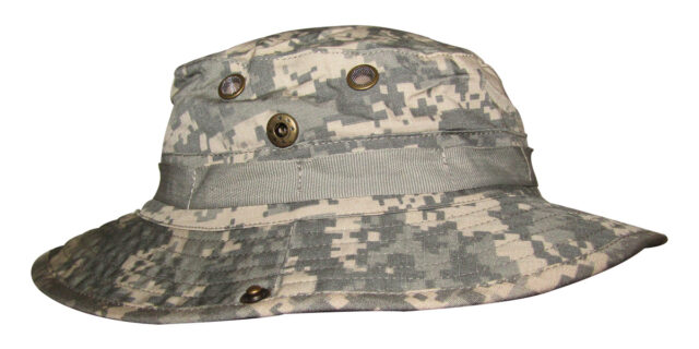 Digital Grey Camo Bush Hat - NEW