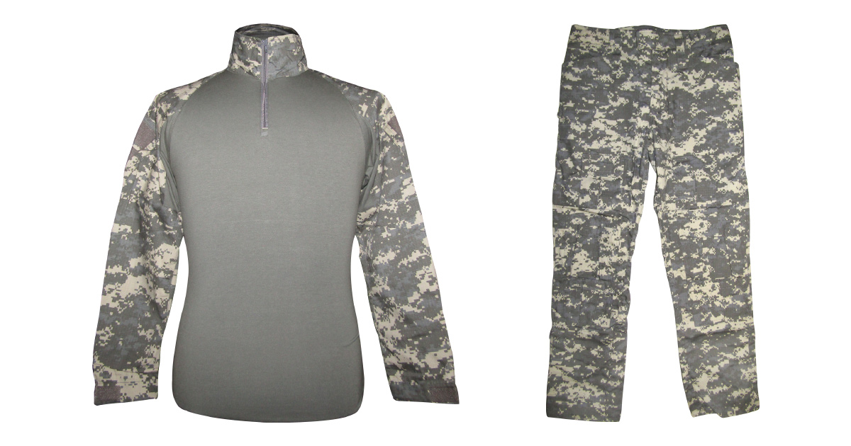"Digital Grey Camo ""Frog Uniform"" excluding Knee & Elbow Pads - NEW"