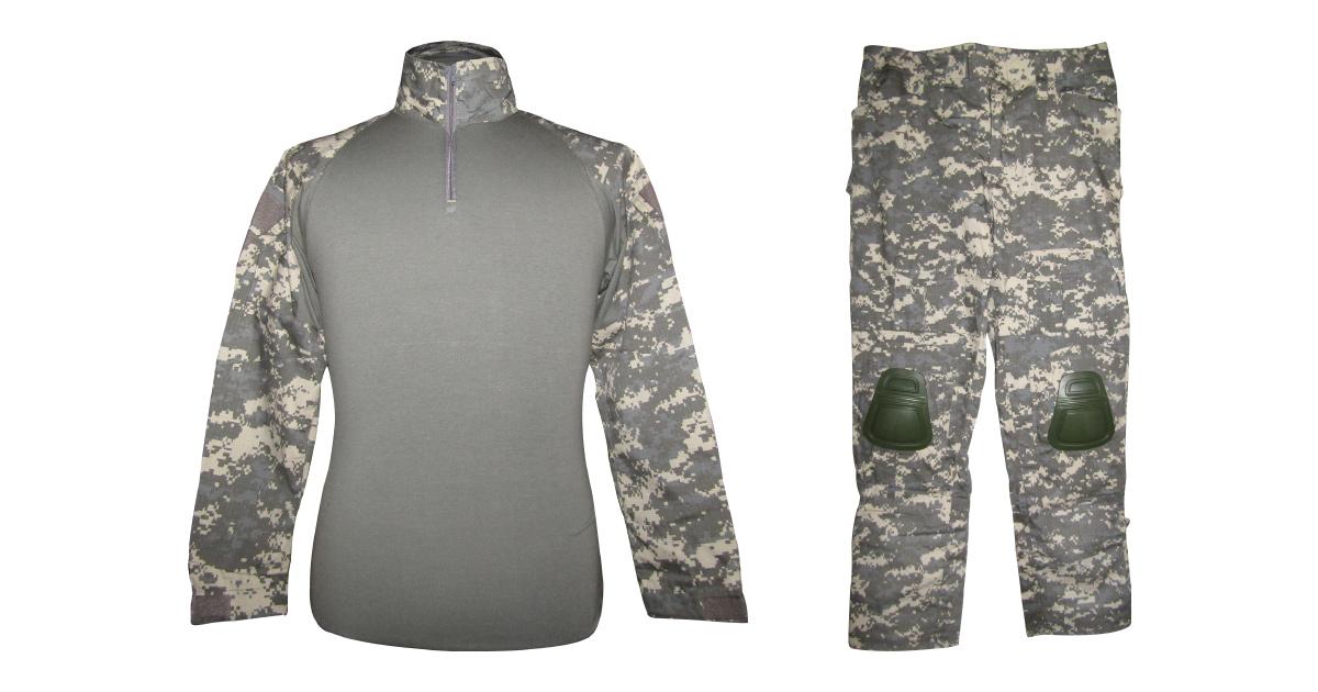 """Digital Grey Camo """"Frog Uniform"""" including Knee & Elbow Pads - NEW"""