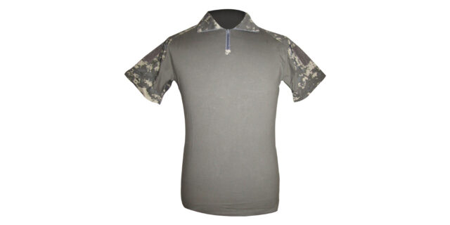 Digital Grey Camo Golf Shirt (Slim Fit) - NEW