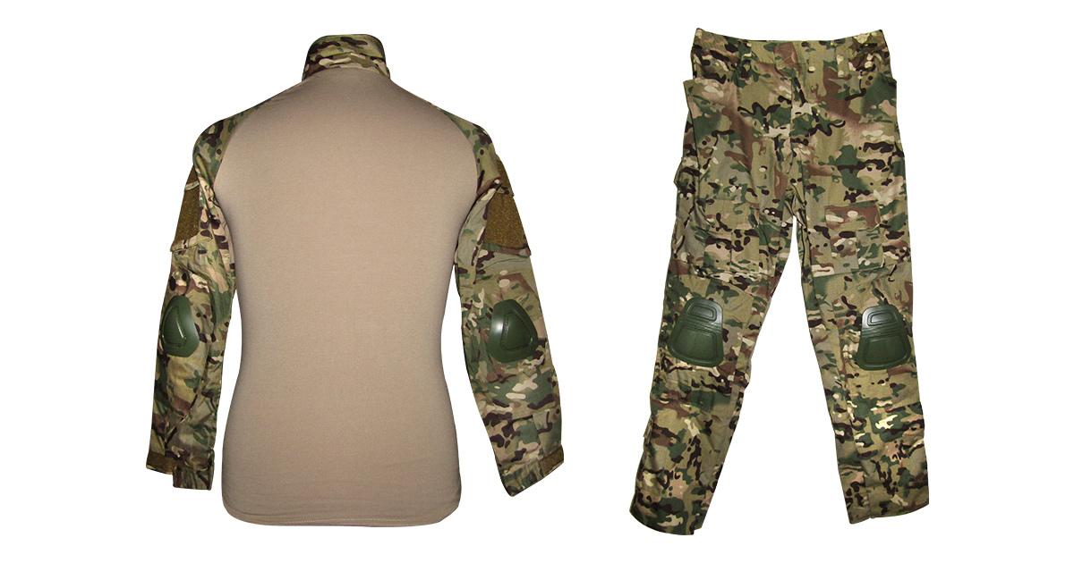 """Multicam Camo """"Frog Uniform"""" including Knee & Elbow Pads - NEW"""