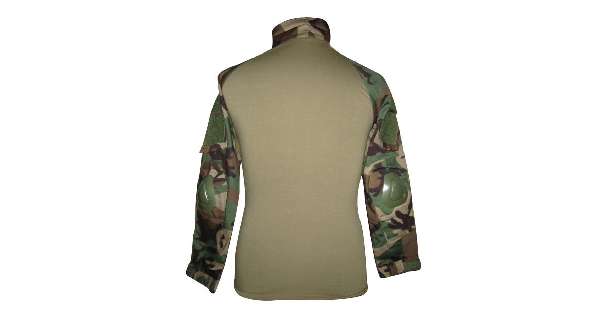 "Woodland Camo ""Frog Shirt"" including Elbow Pads - NEW"