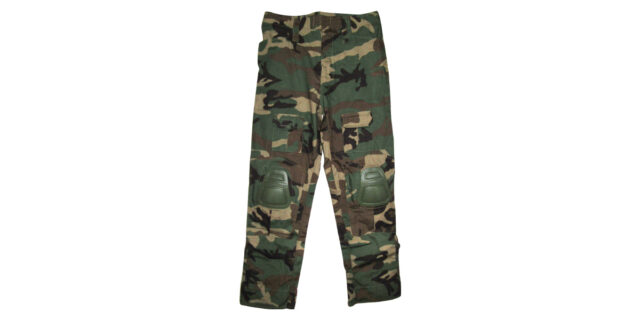 """Woodland Camo """"Frog Trousers"""" including Knee Pads - NEW"""