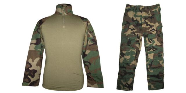 "Woodland Camo ""Frog Uniform"" excluding Knee & Elbow Pads - NEW"