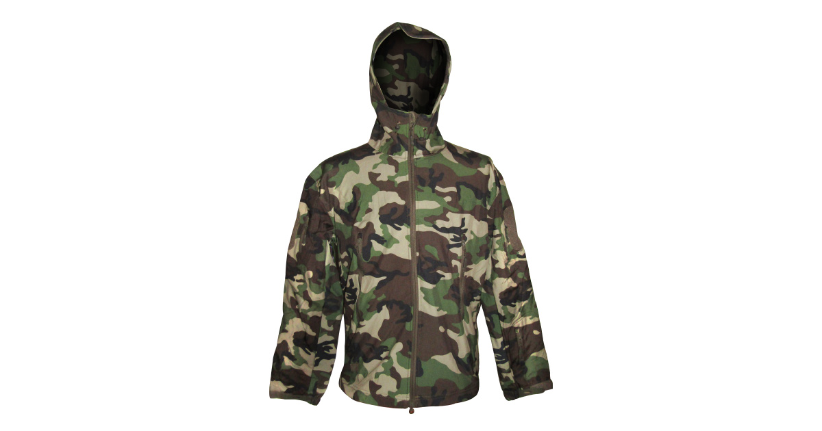 Woodland Camouflage Camo Longsleeve Zip Up Hooded Jacket Hoodie Size M-XXL