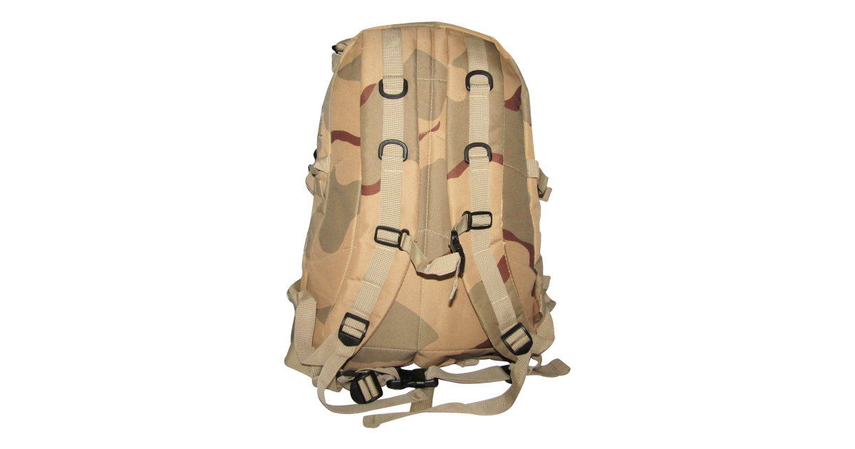 Backpack (3 Compartment, Desert Camo) - NEW