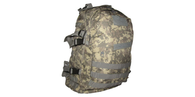 Backpack (3 Compartment, Digital Grey Camo) - NEW