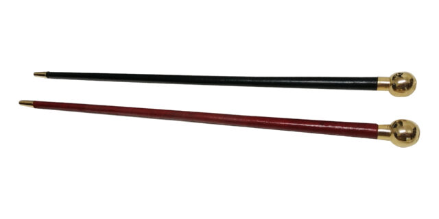 Ex-Army Swagger Stick (Red or Black) - NEW