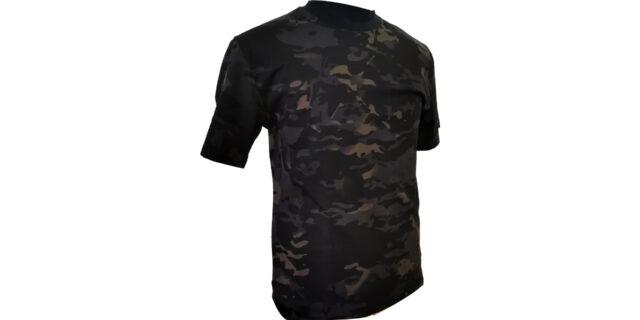Black Camo Cotton T-Shirt - NEW