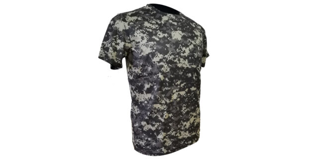 Digital Grey Camo Polyester T-Shirt - NEW