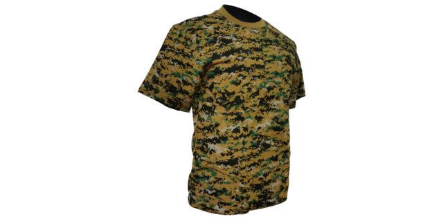 Digital Woodland Camo Cotton T-Shirt - NEW