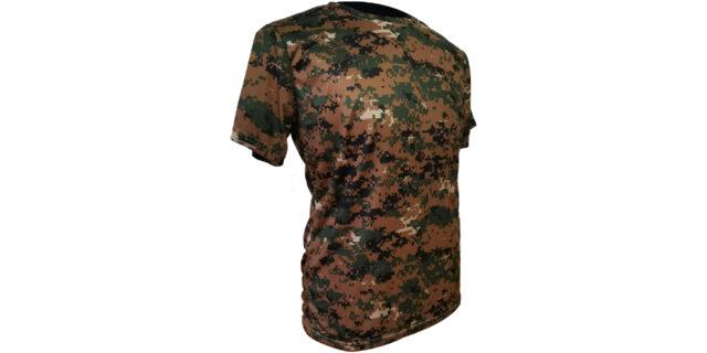 Digital Woodland Camo Polyester T-Shirt - NEW