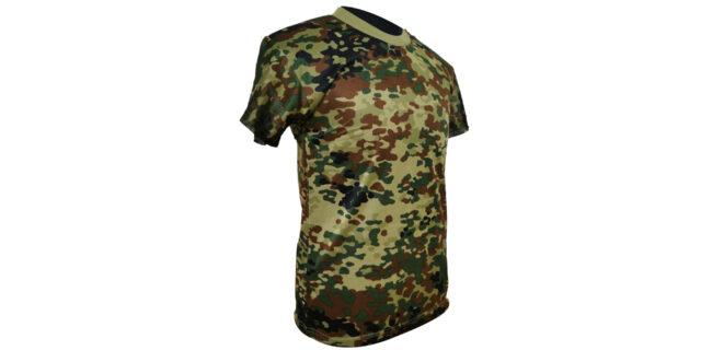 Flecktarn Camo Polyester T-Shirt - NEW