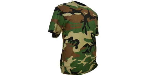 Woodland Camo Cotton T-Shirt - NEW