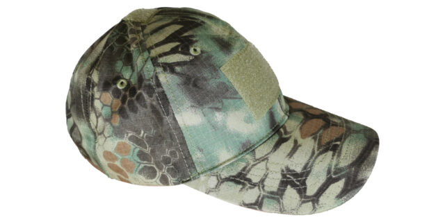 Green Rattlesnake Cap (With Velcro Patch)