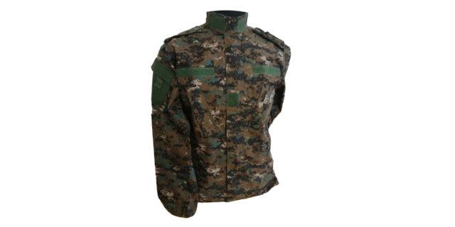 Digital Woodland Camo Long Sleeve Shirt - NEW