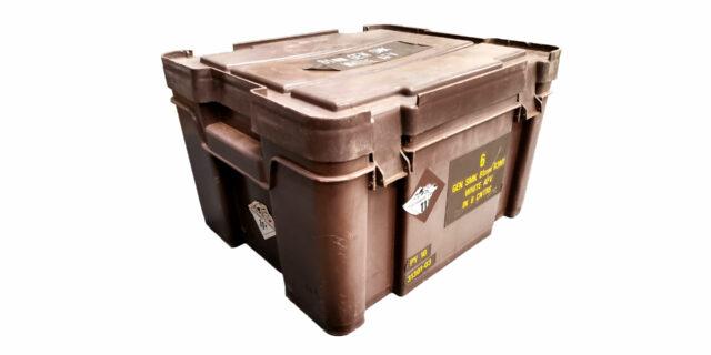 Ex-SANDF Medium Plastic Ammo Crate - USED