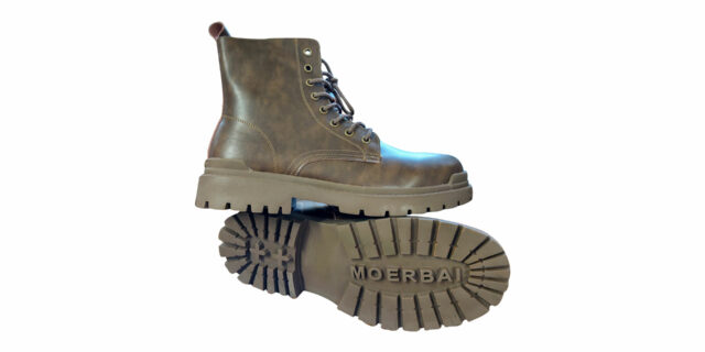 Brown Moerbai Boots with Zip - NEW